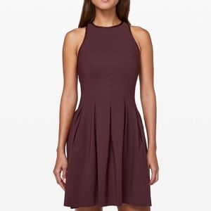Lululemon Here To There Dress Bordeaux Fit & Flare
